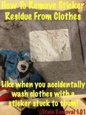 Remove Sticker Residue