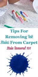 Removing Ink Stain On Carpet