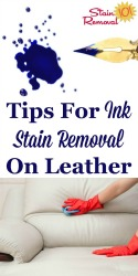 Ink Stain Removal On Leather Tips