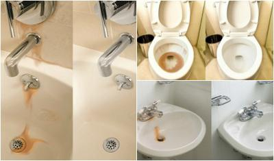Bathroom Sink Yellow Stain super iron out reviews & uses around home & laundry