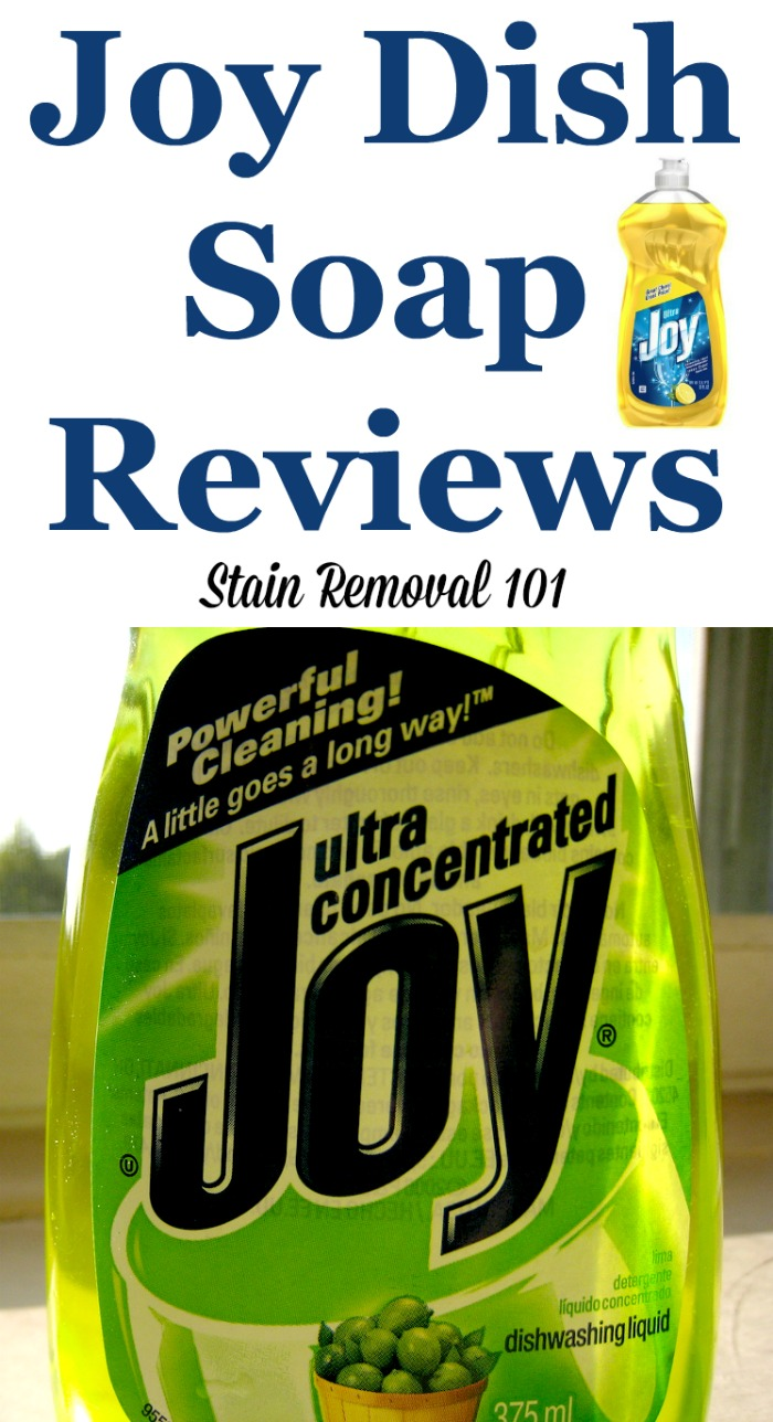 Joy dish soap reviews and uses around your home, as shared by Stain Removal 101 readers #JoyDishSoap #JoyDishwashingLiquid #DishSoapReviews