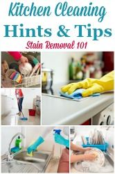 Kitchen Cleaning Hints & Tips
