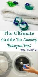 Laundry Detergent Pacs