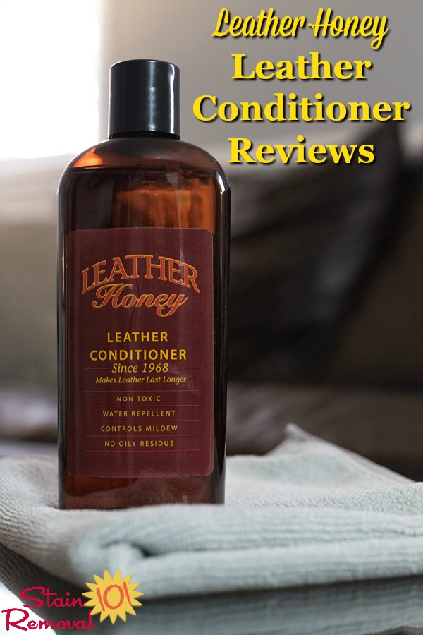 Leather Honey leather conditioner reviews, for leather upholstery, purses and more {on Stain Removal 101} #LeatherHoney #LeatherConditioner #LeatherCare