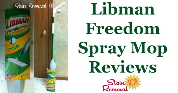 Libman Freedom Spray Mop reviews, including how this works for cleaning of kitchen floors {on Stain Removal 101}