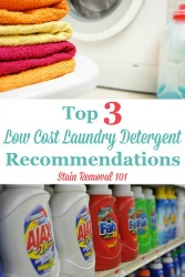 Low Cost Laundry Detergent Options!