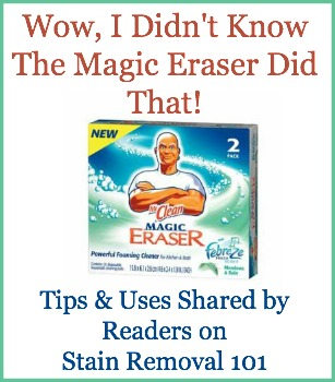 Magic Eraser Uses In And Around Your Home