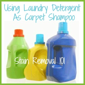 Make Homemade Carpet Shampoo For Cleaner Machine With Laundry Detergent