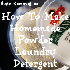 how to make homemade powder laundry detergent