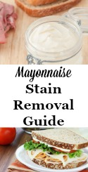 Mayonnaise Stain Removal Guide