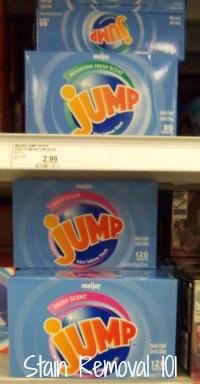 Meijer Jump dryer sheets
