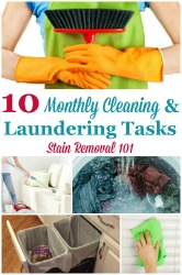 Monthly Cleaning & Laundering Tasks