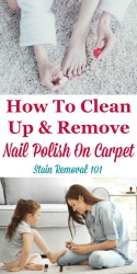 Clean Up Nail Polish On Carpet