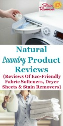Natural Fabric Softener & Other Eco-Friendly Laundry Products Reviews