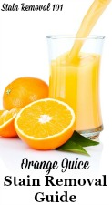 Orange Juice Stain Removal Guide
