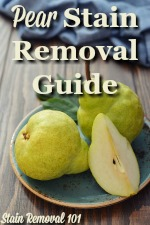 Pear Stain Removal Guide