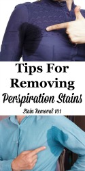 Removing Perspiration Stains & Odors