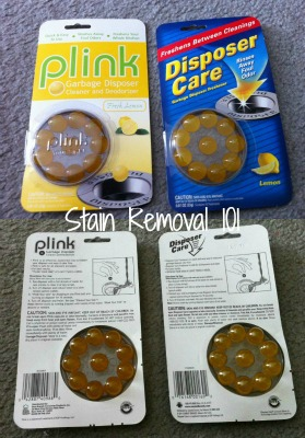 comparison of Plink and Disposer Care freshener