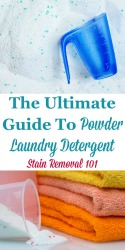 Powder Laundry Detergent Facts & Uses