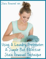 tips for using laundry pretreater