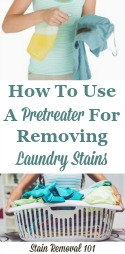 Using A Laundry Pretreater