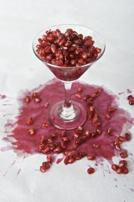 Pomegranate Juice Stains Easily