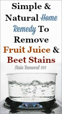 Remove Beet And Fruit Juice Stain
