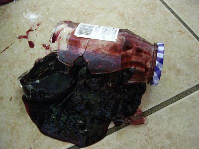 Oops, I dropped the jam jar!
