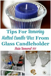 Removing Melted Candle Wax