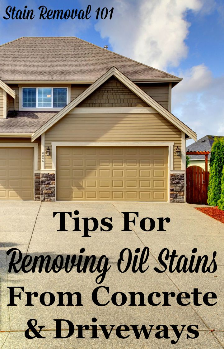 Removing oil stains from concrete tips instructions for Clean oil from concrete