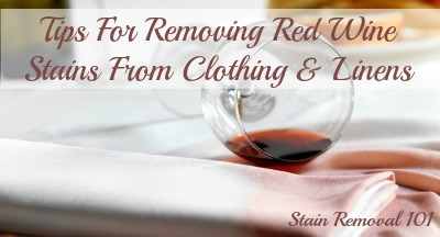 removing red wine stains from clothing. Black Bedroom Furniture Sets. Home Design Ideas