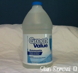Ammonia as stain remover