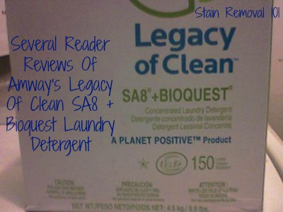 Sa8 Laundry Detergent From Amway Review