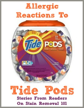 Tide Pods Allergies Amp Itchy Reactions