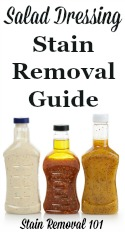 Salad Dressing Stain Removal Guide For Both Creamy And Vinaigrette Dressings