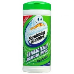 Scrubbing Bubbles Antibacterial Bathroom Wipes Review They 39 Re Even Flushable