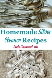 Silver Cleaner Homemade Recipes