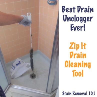 Simple & Chemical Free Drain Unclogger: Zip It Drain
