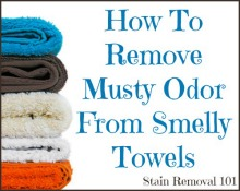 Remove Musty Odor From Smelly Towels