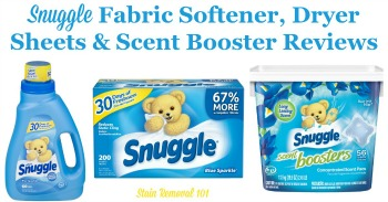 Snuggle fabric softener reviews