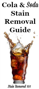 How To Remove Cola, Soft Drink & Soda Stains