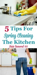 Spring Cleaning The Kitchen