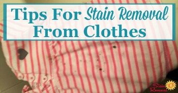 Tips for stain removal from clothes