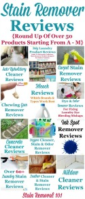Over 50 Stain Remover Reviews
