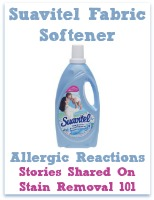 Suavitel fabric softener allergic reactions