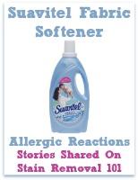 Suavitel fabric softener allergic reactions