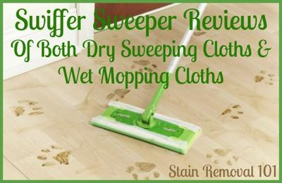 below youu0027ll find quite a few swiffer sweeper reviews from readers some of whom have use the dry sweeping cloths which replace a regular broom - Swiffer Mop