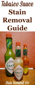 Tabasco Sauce Stain Removal Guide