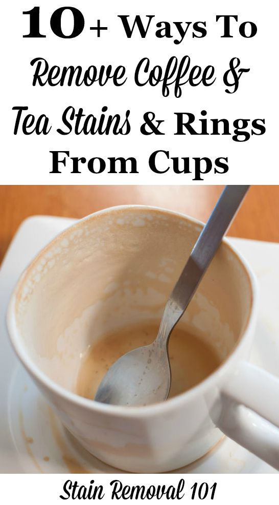 How To Remove Coffee & Tea Rings From Mugs & Cups