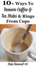 Getting Rid Of Coffee And Tea Stain Rings In Mugs
